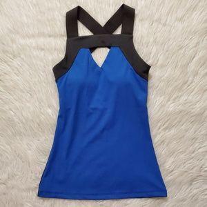 Havok Nation Blue & Black Athletic Cross Back Top